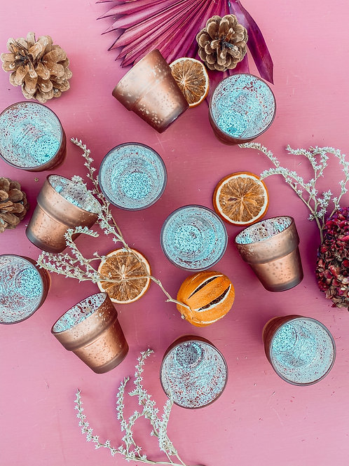 Copper Speckled Tea light Holder