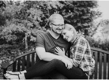 Patrick & Sarah: A Rose Garden Engagement