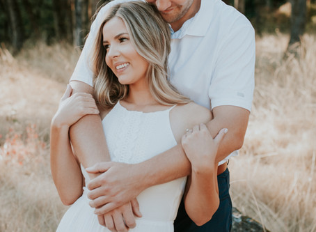 Bridget and Nick: A Golden Hour Engagement
