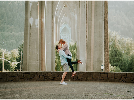 Dallas & Tyler: A Cathedral Park Engagement