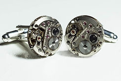 watch movement cuff links unique and bespoke designs, steampunk