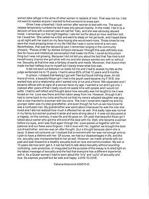Taheira Hickmond_The Story of Her_Nat. Brut