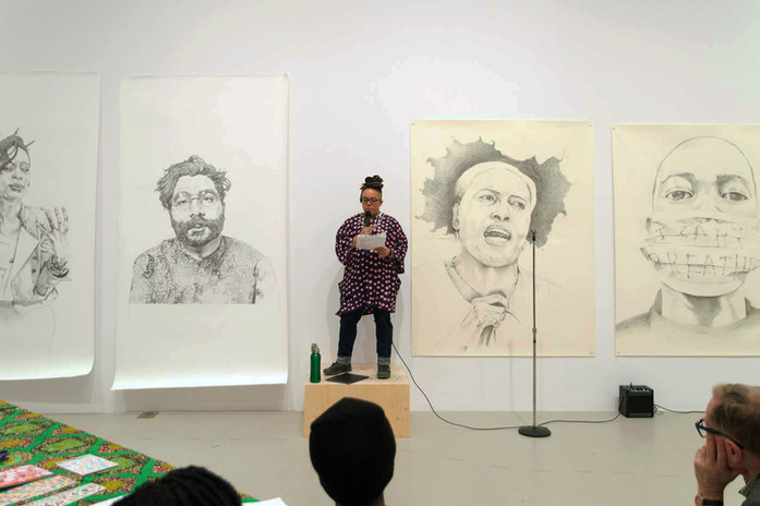 Syrus Marcus Ware, Activist Portrait Series, installation at AGYU, 2017