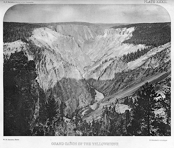 William Henry Jackson. Grand Canyon of the Yellowstone. U.S. Geological Survey of the Territories