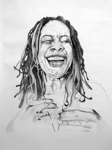 Syrus Marcus Ware,  Activist Portrait Series: Thandi Young, 2017 Graphite on paper