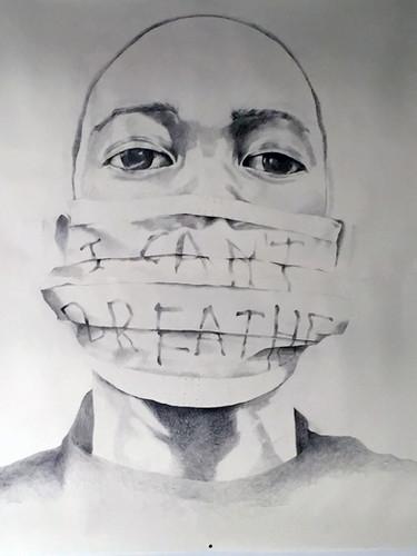 Syrus Marcus Ware,  Activist Portrait Series: For Eric, 2017 Graphite on paper