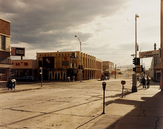 Stephen Shore. 2nd Street East and South Main Street, Kalispell, Montana