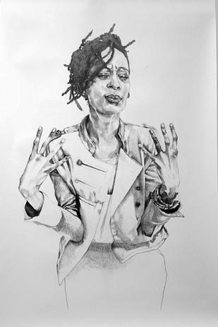 Syrus Marcus Ware,  Activist Portrait Series: QueenTite, 2017 Graphite on paper