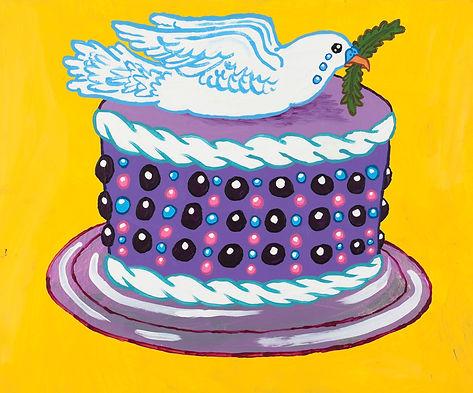 Prince's memorial dedication dessert: The Crying Dove Purple Candy Rain Cake,Yukari Sakura, 2016.