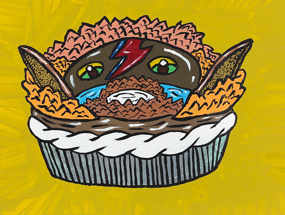 Dave's (or Dave Bowie's) Goblin King of the Labryinth Pie, Yukari Sakura, 2016.