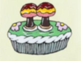The Twin Atomic Fire Mushroom Cream Pie,Yukari Sakura, 2016.