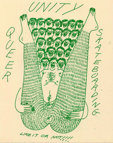 Jeffery Cheung, Unity Queer Skateboarding, risograph, 2018
