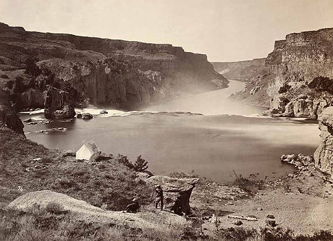 Timothy O'Sullivan. Camp at Shoshone Falls, Idaho