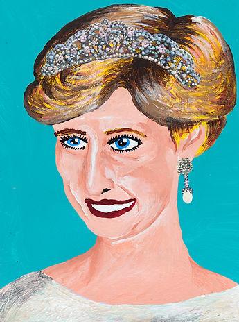 A portrait of Princess Diana by Yukari Sakura.