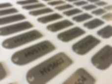 Stainless steel label serial tag for valves