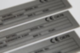 Stainless steel serial CE mark plates, label tags