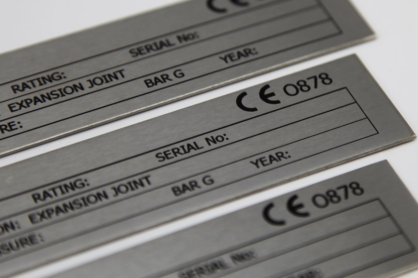CE plate stainless steel etched nameplate serial plate engraved tag label