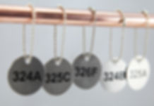 Stainless steel valve tag chemically etch engraved