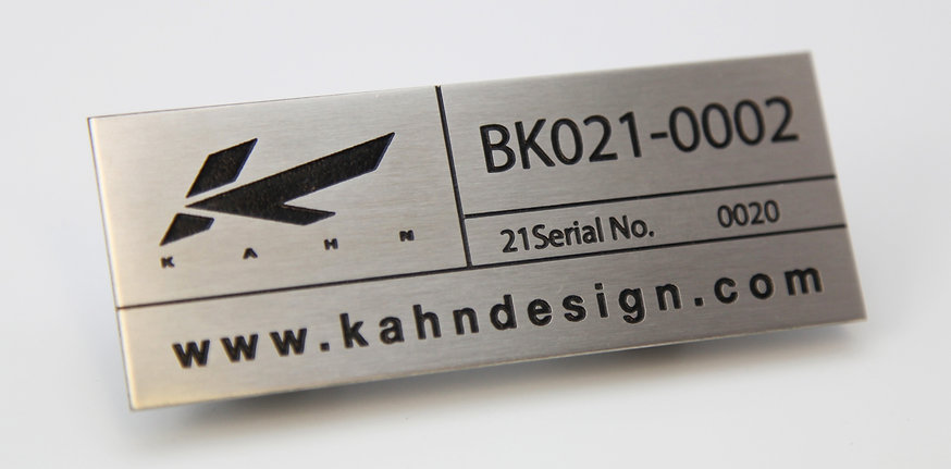 Stainless steel etched serial plate engraved nameplate