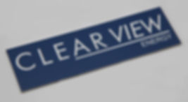 Traffolyte label blue and white nameplate