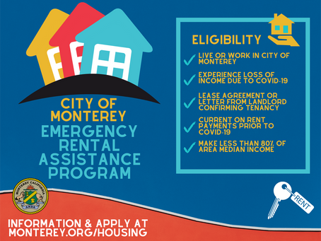 City of Monterey Is Implementing Emergency Rental Assistance