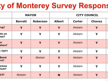 Compare the Candidates for Monterey City Council