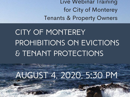 Eviction Webinar on Evictions and Tenant Protections