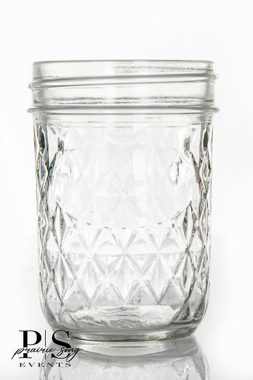 Clear Diamond Glass Jars