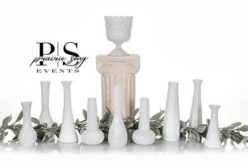 Antique Milk Glass Vases