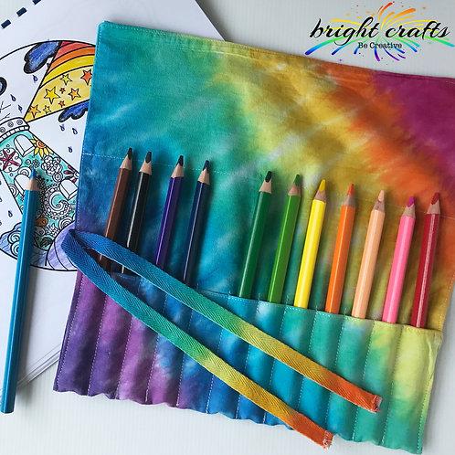 Tie Dye Pencil or Make Up Brush Wrap