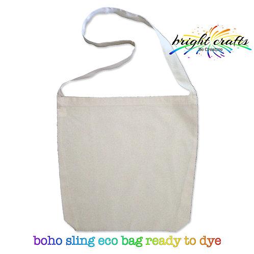 Calico Boho Eco Bag (ready to Tie Dye)