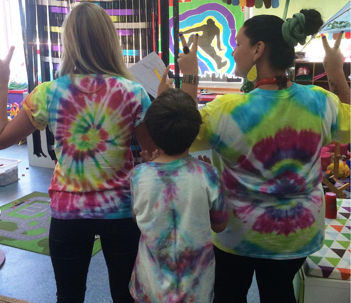 OOSH tie dye workshop tshirts