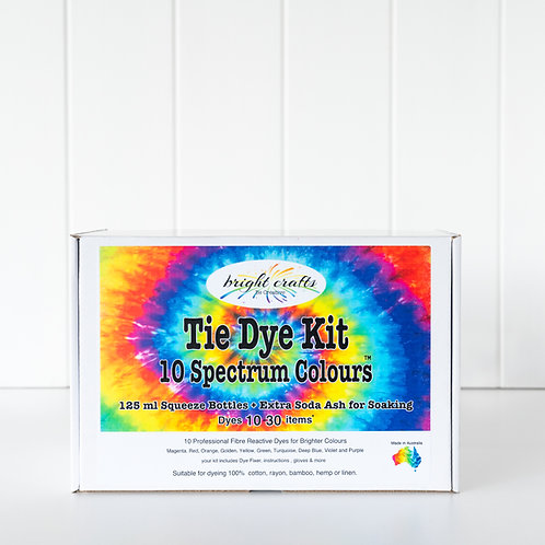 10 Colour Spectrum Tie Dye Kit