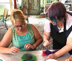 wet felting class with Bright Crafts
