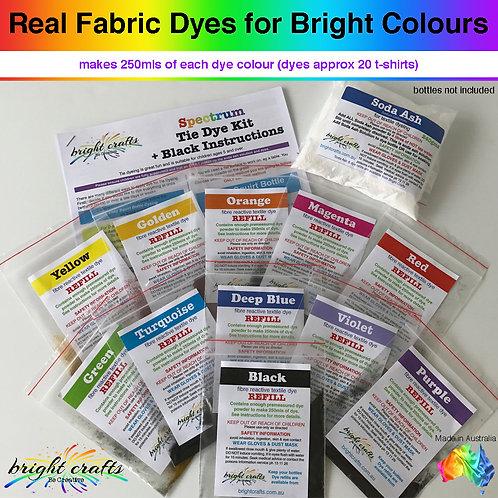 Spectrum Tie Dye Kit Refill + Black