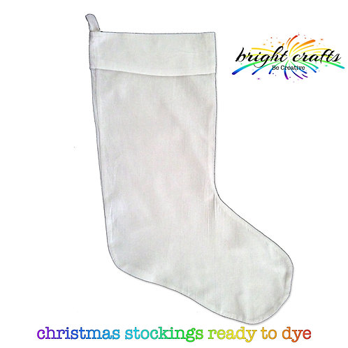 White Christmas Stocking (ready for Tie Dye)