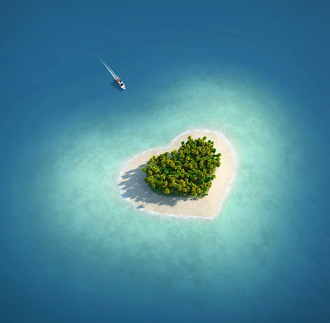Paradise Island in the form of heart_835