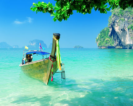Clear water and blue sky. Krabi province