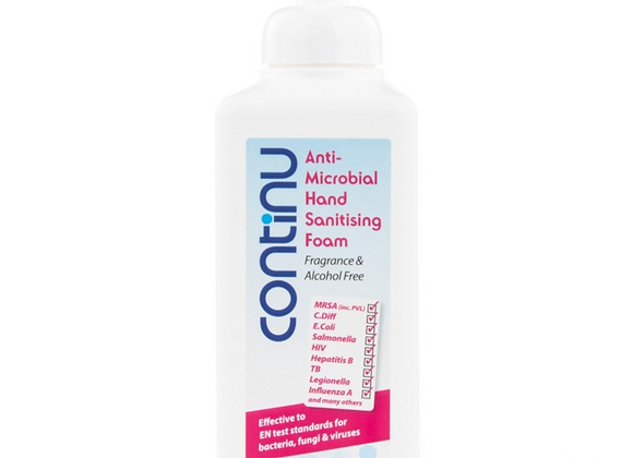 Continu Anti-Microbial Hand Sanitising Foam (600ml)