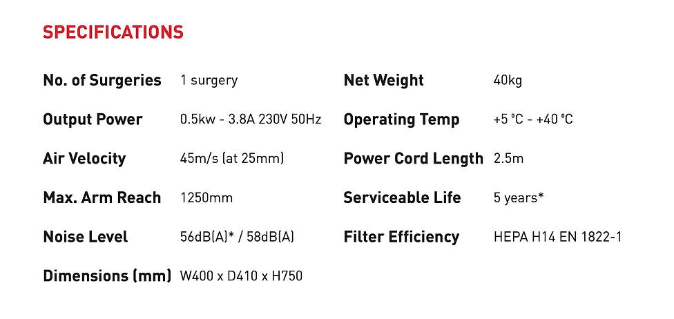 Aspi- aero 25 specifications