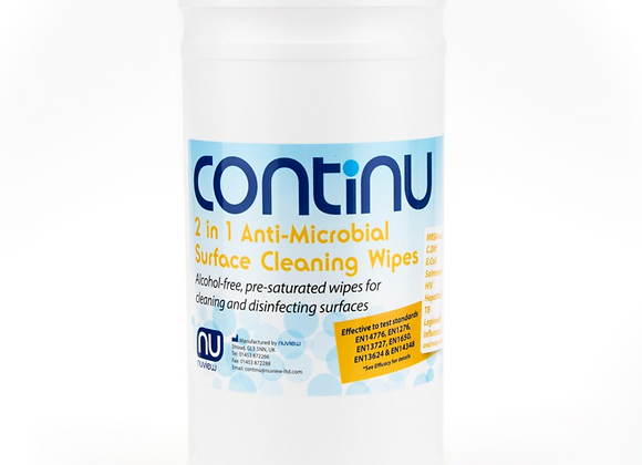 Continu 2 in 1 Wipes - Tub (200) - Pack of 6 Tubs