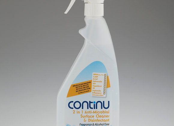 Continu 2 in 1 Surface Cleaner & Disinfectant (750ml) - box of 6 trigger bottles