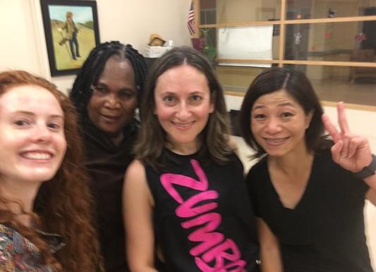 Mila with Zumba students