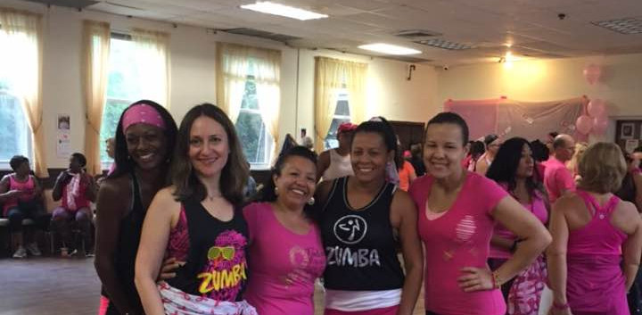 Mila with Zumba students