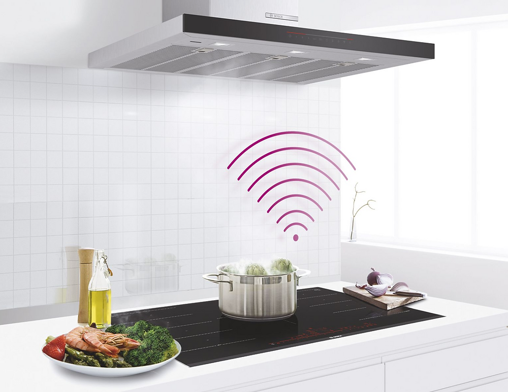 Rangehood and induction cooktop