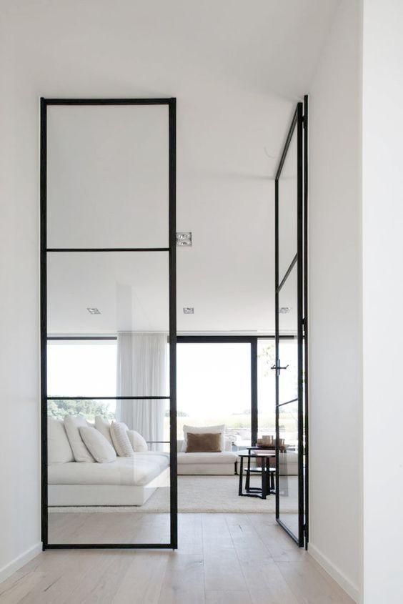 Floor to ceiling doors   steel-framed glazed doors