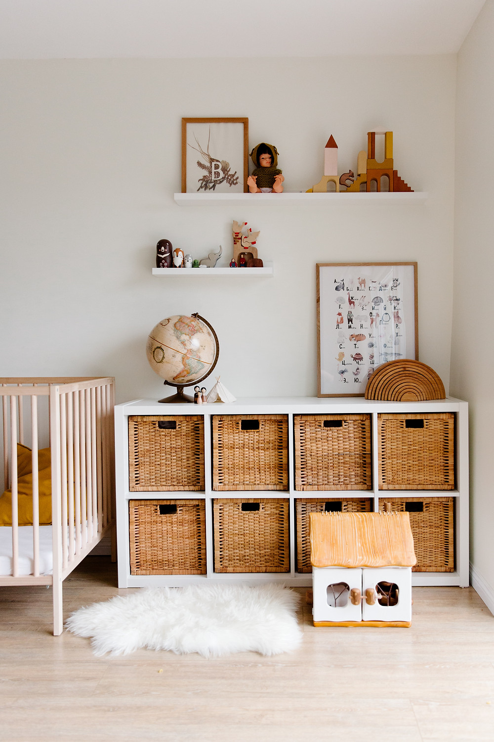 Storage for bedroom and nursery