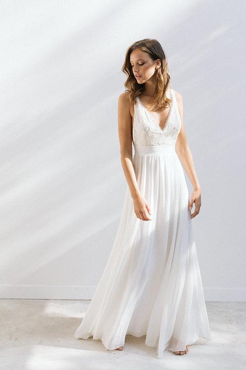 Anna Dautry Rimini Robe de mariée Tulle brodé Bohème mariage