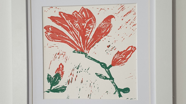 Magnolia Lino Print