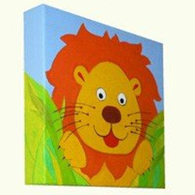 Hidden Lion Canvas Art